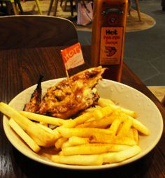 1/4 Chicken at Nando's - Chicken and Chips - Peri Peri Sauce