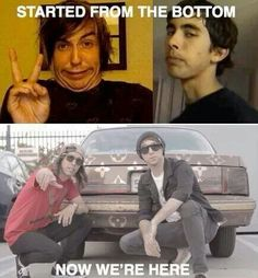 Heh heh xD Alex Gaskarth of ATL and Vic Fuentes of PTV <3