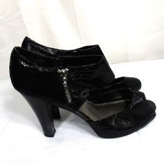 Fergalicious Black High Heels Size 11 M clubwear party shoes harem