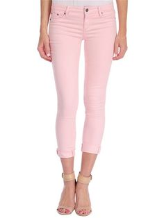 a946339733669 Tractr Mid Rise Ankle Crop Jeans Pink Trousers, Pink Pants, Cropped  Trousers, Denim