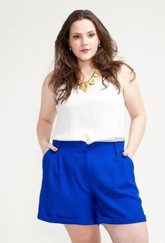 SHORT PLUS SIZE JULIANA ROYAL ZUYA - Zuya+
