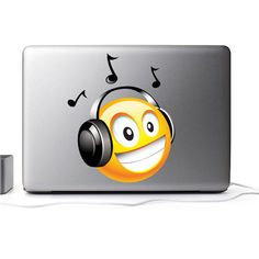 Music Smiley Wall Mural Decal- Decorate your home or office with the Music Smiley Wall Mural Decal. Modern Wall Decals, Wall Mural Decals, Emoji Stickers, Smiley, Chen, Random, Music, Musica, Musik