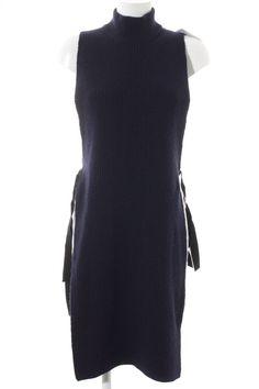 f857ccce5bc DOROTHEE SCHUMACHER Strickkleid dunkelblau-schwarz Elegant Damen Gr. DE 36  Kleid  fashion
