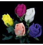 Long Stem Rose Crochet Pattern