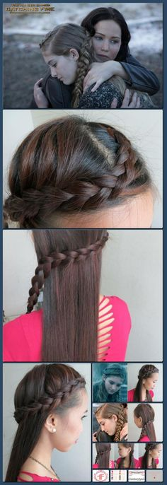 Real Asian Beauty: Primrose Everdeen - Hunger Games Catching Fire - Hair Braid Tutorial [Collage made with one click using http://pagecollage.com] #pagecollage
