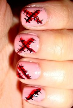 Zombie Nails! Perfect for Halloween