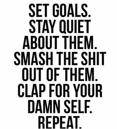 Smash the Shit out of them motivational fitness motivation / workout quotes / gym inspiration / fitness quotes / motivational workout sayings Motivacional Quotes, Great Quotes, Quotes To Live By, Move In Silence Quotes, Quotes About Goals, Quotes About Work, Reaching Goals Quotes, Hard Work Quotes, Career Quotes