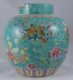 Chinese Qing Guangxu Famille Rose Porcelain Ginger Jar