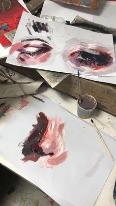 secret little rendezvous. Art Sketches, Art Drawings, Gcse Art Sketchbook, Guache, A Level Art, Aesthetic Art, Aesthetic Painting, Pretty Art, Love Art
