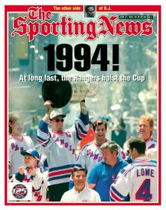 New York Rangers - Stanley Cup Champions - June 27, 1994
