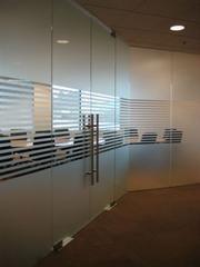 Striped Window Frosting Design