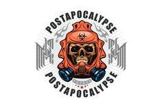 Post-Apocalypse Skull Clipart -Vector Clip Art Graphics-Digital Download-Template Design Files-Logo- Post Apocalypse, Badge, Cnc Woodworking, Clip Art, Vinyl Signs, Vinyl Cutting, Distortion, Sell Items, Us Images