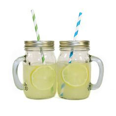 Mason Jar Mugs with Straws - $60 for box of 12