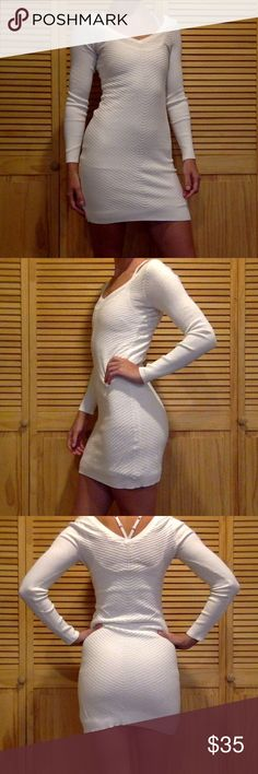 VS cotton cashmere blend XS Gently worn. Comfortable and super sexy. Darling with a pair of knee high boots. Victoria's Secret Dresses Midi