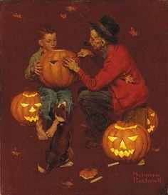 Norman Rockwell, American illustrator 1894-1978, Halloween
