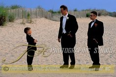 Little Ring Bearer with Groom and Best Man, Wedding Portrait