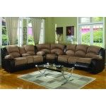 Carrie Ann Microfiber/ Leather Sectional Reclining Sofa  SPECIAL PRICE: $1,719.00