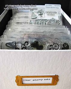 My Clear Stamp Storage by Anne Gaal of Gaal Creative at http://www.gaalcreative.com - Feel free to re-pin! ♥