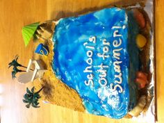 School's out for summer cake