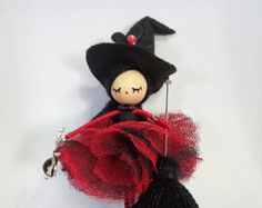 doll brooch jewelry doll Paris by Delafelicidad on Etsy