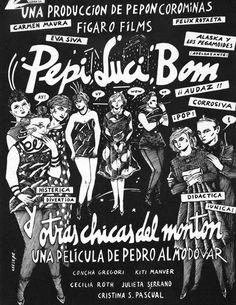 """081 """"Cartel a una tinta de Ceesepe"""" / Pepi, Luci, Bom y otras chicas del montón (1980) / #Almodovar"""