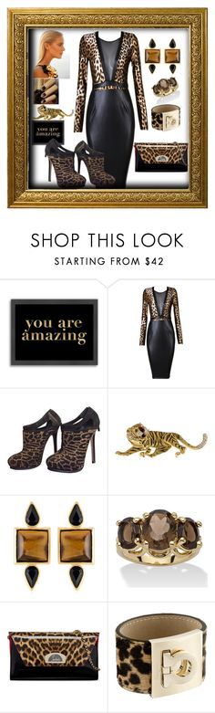 """""""Into the Wild"""" by mcronald-denise ❤ liked on Polyvore featuring Americanflat, Gucci, Posh Girl, Fendi, George & Laurel, Palm Beach Jewelry, Christian Louboutin and Salvatore Ferragamo"""