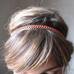 Venda Headband chaine or et son fil rouge