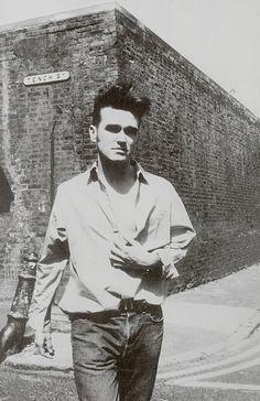 #Morrissey during the 'Bona Drag' era.