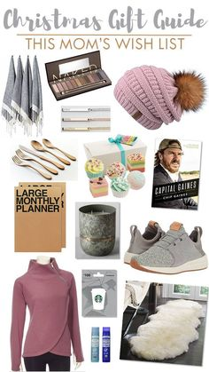 Christmas Gift Guide - This Mom's Wish List | New Balance Fresh Foam Cruz, Sheepskin Shag Rug, Starbucks Gift Card, Large Monthly Planner, KNORK Antique Copper Flatware, Urban Decay Naked, Eye Shadow, Turkish Towels, Personalized Gold Bar Necklace, Bath Boms, Pink Fur Pom Hat, Capital Gaines Book, Hearth & Hand Magnolia Candle, Organic Lip Balm