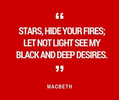 Macbeth whispers these famous lines to himself in frustration.