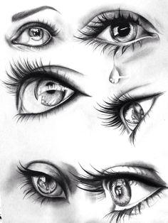 Première feuille: yeux réalistes
