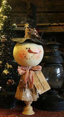 The Old Cupboard Door: My Bigheaded Snowman