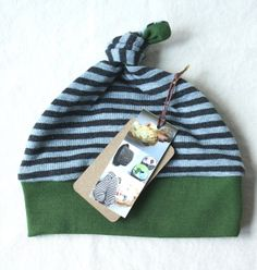NEW  Organic Baby Knot Hat   multipatterned by MeadowsweetOrganics, $15.00