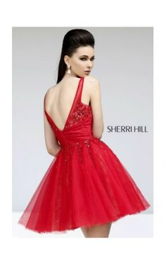 Red 2014 Embellished Sleeveless Dress by Sherri Hill 21200Outlet