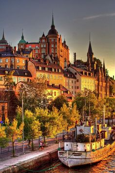 Stockholm, Sweden (by Rikke Lind). One of my happy spots in Stockholm. Love Södermalm and this view. Places Around The World, Oh The Places You'll Go, Travel Around The World, Places To Travel, Places To Visit, Around The Worlds, Sweden Stockholm, Visit Stockholm, Stockholm Travel