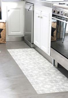Incroyable Mon Tapis Vinyle Carreaux De Ciment DIY