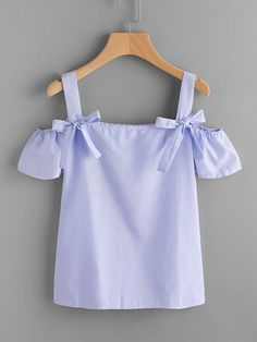 open shoulder blue top for baby girls and toddler girls | summer tops for baby and toddler girls | modern vintage baby fashions