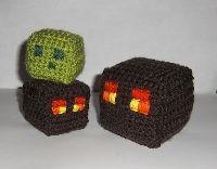 crochet minecraft pillow pattern - Google Search