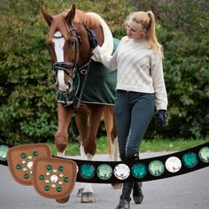 Green horse outfit on a chestnut with equestrian girl Equestrian Girls, Equestrian Outfits, Equestrian Style, Equestrian Fashion, Horse Classifieds, Rare Horses, Polo Team, Chestnut Horse, Clothes Horse