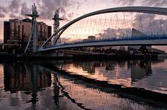 Quays Millennium Bridge at Sunset