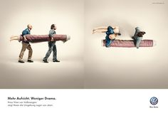 Volkswagen promotes one of their new features, the area view. Pretty witty, another great ad by DDB, Berlin.