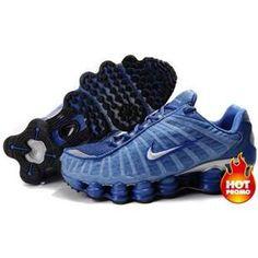 279efe383f7c Shop Men s Nike Shox TL Shoes Light Blue Blue Silver Super Deals black