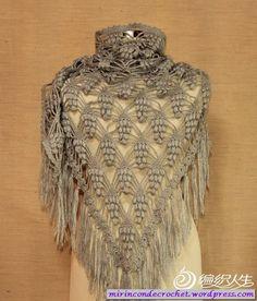 Capas y Chales   Mi Rincon de Crochet - Spanish site with free diagram