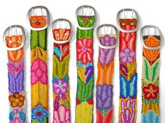 Wholesale lot of 10 embroidered belt floral by EmbroideryPeru, $174.00