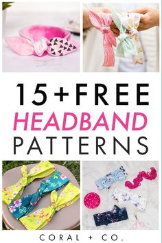 15  Amazing Free Headband Sewing Patterns and Tutorials to Make Use your scraps to sew these awesome beginner friendly headband sewing patterns. #sewing #beginnersewing #kidsewing Easy Baby Sewing Patterns, Sewing Projects For Beginners, Sewing Tutorials, Dress Patterns, Dress Tutorials, Coat Patterns, Sewing Tips, Sewing Ideas, Sewing Headbands