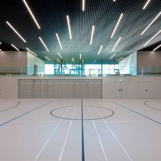 CREARAILING at the sports hall Corcelles-Cormandrèche System CREALINE GG-1004 - 3.0kN/m  CREARAILING bei der Sporthalle Corcelles-Cormandrèche CREARAILING à la salle de Gymnastique Corcelles-Cormandrèche CREARAILING - YOUR glass railing specialist. Swiss Made. Swiss Quality. World Wide. www.crearailing.ch  #CREA#CREARAILING#CREALINE#glassrailing#glassbalustrade#swissmade#Glasgeländer#Gardecorpsenverre#stakleneograde Glass Balustrade, Glass Railing, Sports, Gymnastics Room, Hs Sports, Excercise, Sport, Exercise, Glass Handrail