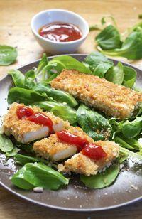 Nuggets de tofu mariné au soja et gingembre