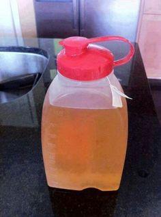 60 oz water 2 tbl lemon juice 1 tbl sugar free cranberry juice 1 dandelion root tea bag  Jullian Michael s recipe