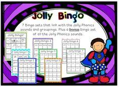 Jolly Phonics Bingo for books 1 - 7