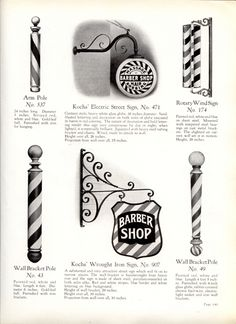1929 Kochs' Barber Shop & Beauty Shop Fixtures, Catalog No. Barber Shop Pictures, Barber Chair Vintage, Barber Sign, Barber Tattoo, Master Barber, Best Barber, Close Shave, American Art, American History